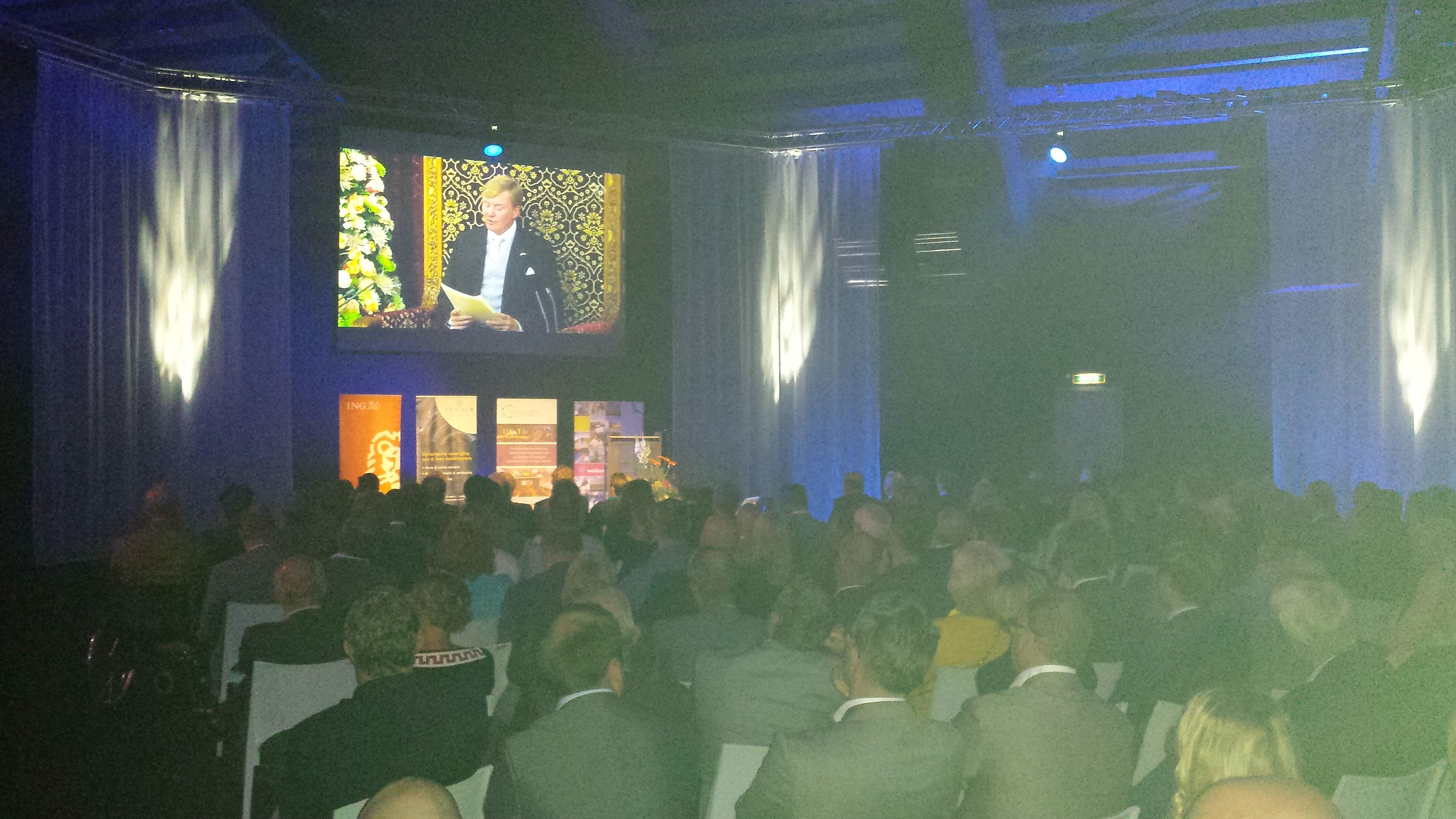 Photo of Bevlogen opening door burgemeester Meijer op Prinsjesdagcongres 2014