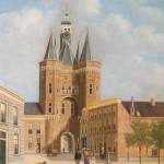 Joan Willem Meijer (1840-1929), De Sassenpoort, 1890, olieverf op linnen, Stedelijk Museum Zwolle