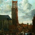 Jan Grasdorp (1642-1686) De ingestorte toren van de Grote Kerk, 1682 olieverf op doek Stedelijk Museum Zwolle