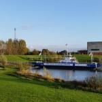 Veerpont bij IJsselcentrale Zwolle