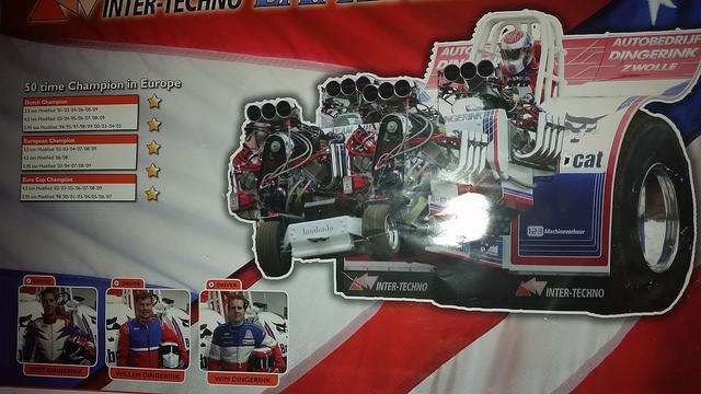 Photo of Dingerink's Amerikaanse minipuller primeur bij Tractor Pulling!
