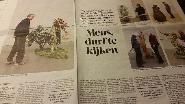 Photo of Mensbeelden expositie De Fundatie in Volkskrant