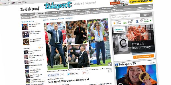 Photo of Ron Jans Coach van het Jaar De Telegraaf