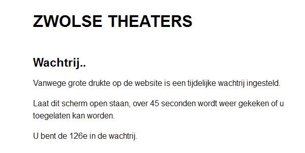 Photo of Online in de wacht bij de Zwolse Theaters