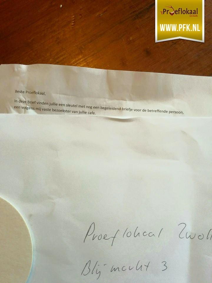 Photo of Café 't Proeflokaal Zwolle ontvangt mysterieuze brief