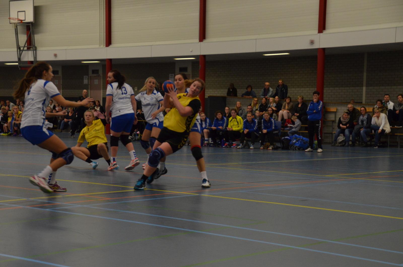 Photo of Dames van SV Zwolle Handbal liepen achter de feiten aan tegen SDOL