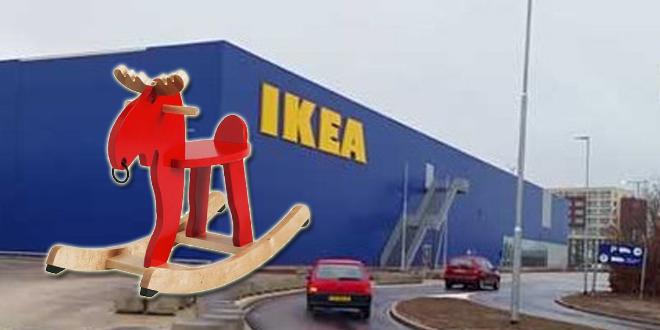 Ekorre hobbeleland Ikea is verdwenen - fotobewerking RTV Focus Zwolle