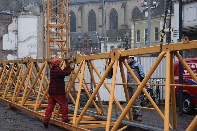 Photo of [Video] Torenhoge kraan voor bouw Primark op Melkmarkt
