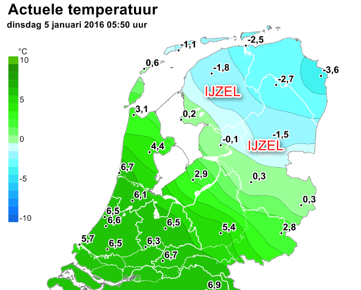 Photo of IJzelsituatie in Noord-Nederland dinsdagochtend – Zwolle ontspringt de dans