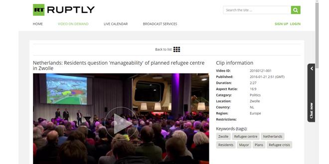 Photo of AZC Zwolle info-avond 'video' te koop bij Duits TV station