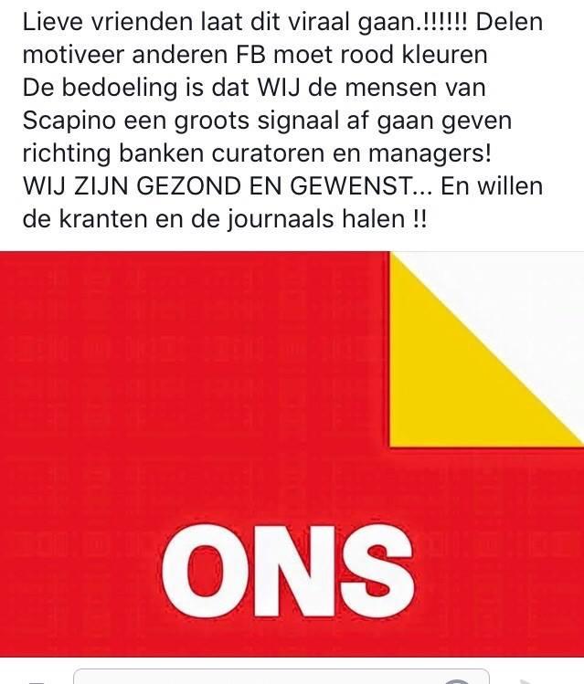 Photo of Personeel Scapino Zwolle komt in actie tegen faillissement