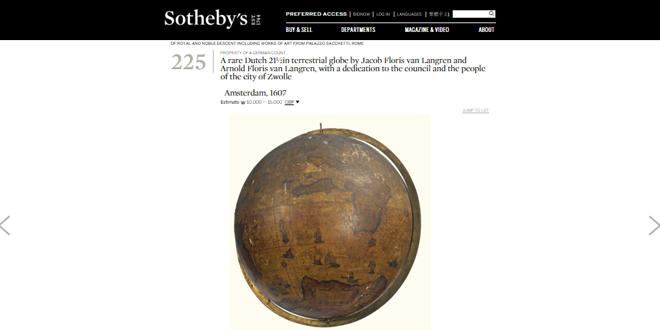 Photo of Stedelijk Museum Zwolle heeft zinnen gezet op Globe bij Sotheby's