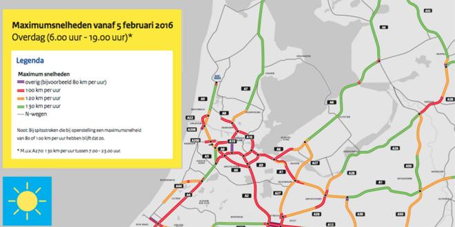 Photo of Gas erop: A28 richting Amersfoort nu 130 km/uur