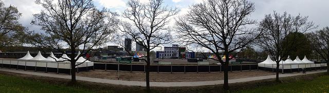 panorama view van het terrein