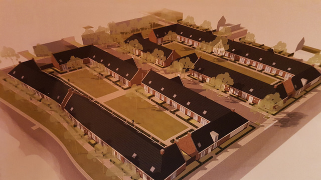 Op voormalig Aa-bad locatie komt het Krasse Knarrenhofje en een aantal sociale huurwoningen van deltaWonen