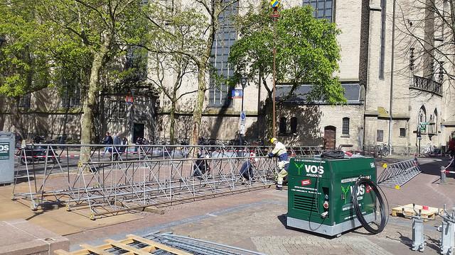 Photo of Tijdelijke Koningsdag zendmast in binnenstad