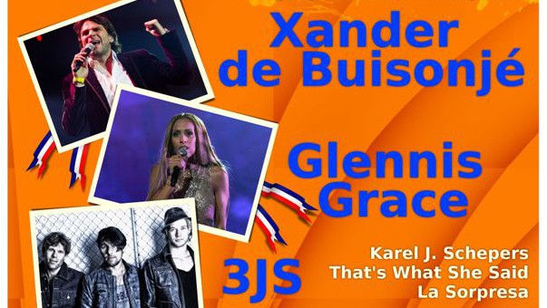 Photo of Koningsdag Zwolle – Hoofdpodium Glennis Grace – Xander de Buisonjé- 3 JS