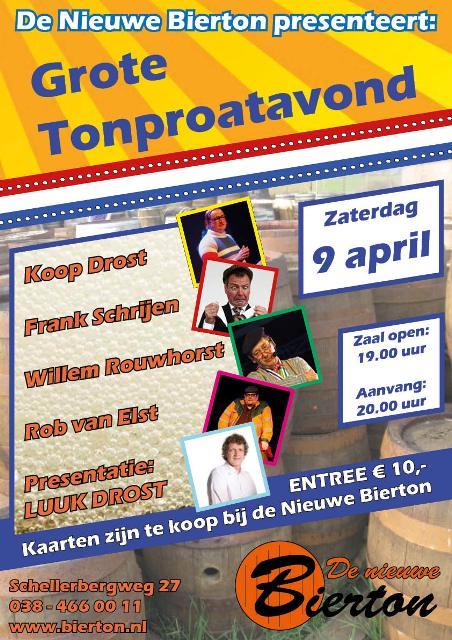Photo of Grote Tonproatavond bij De Nieuwe Bierton