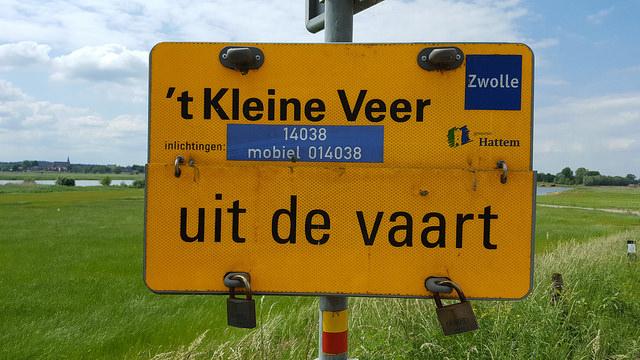 Photo of Kleine Veer is even uit de vaart door kapotte schroef