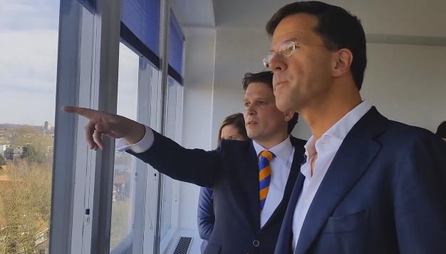 Premier Mark Rutte in Zwolle