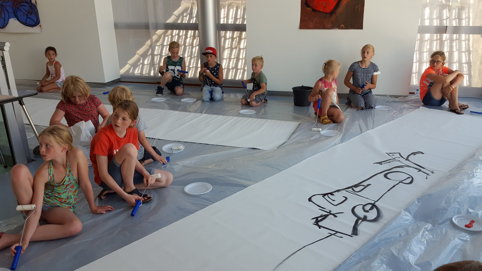 Photo of Live action painting à la Brood in Stedelijk Museum Zwolle