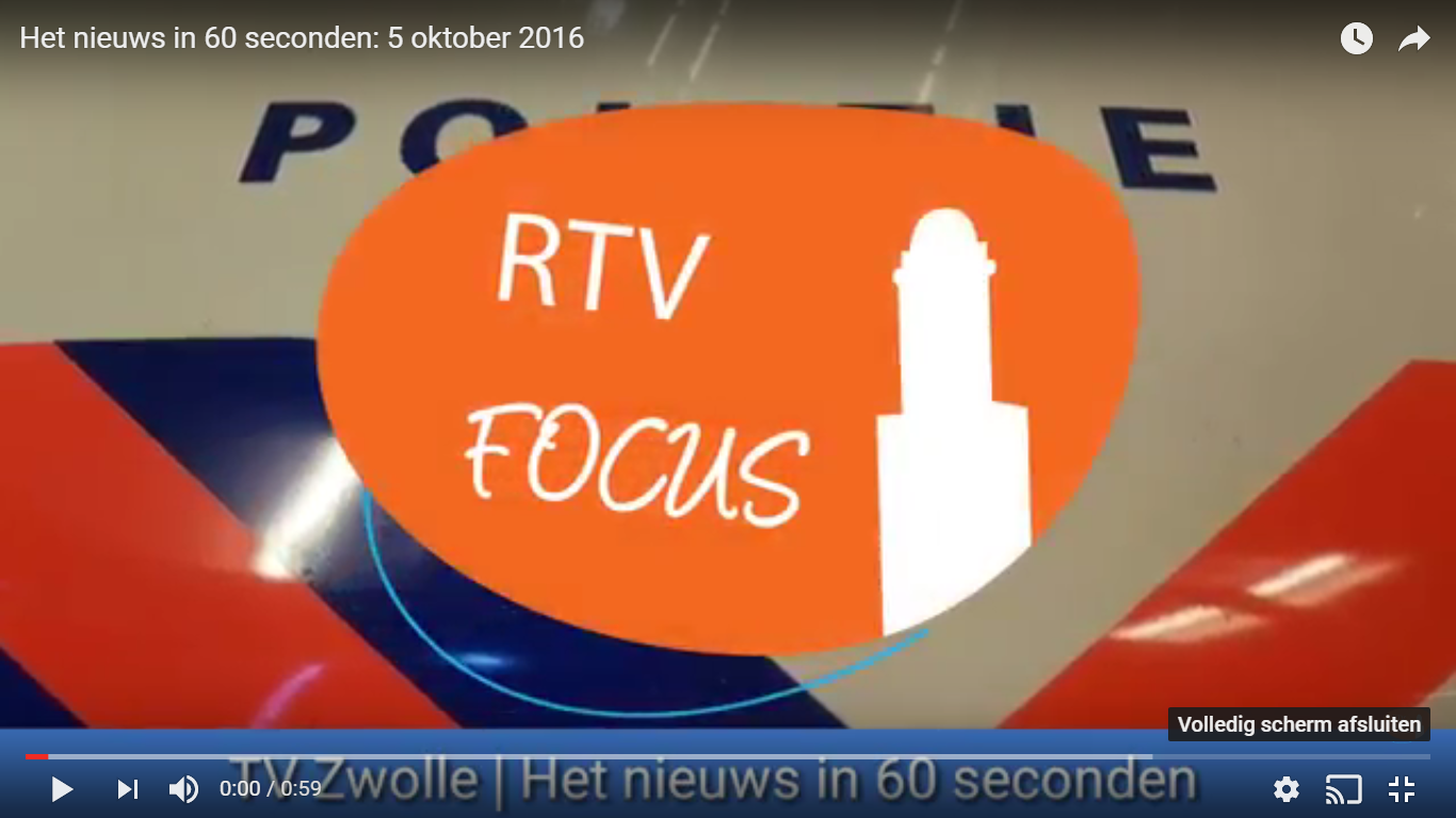 Photo of Het nieuws in 60 seconden: 5 oktober 2016