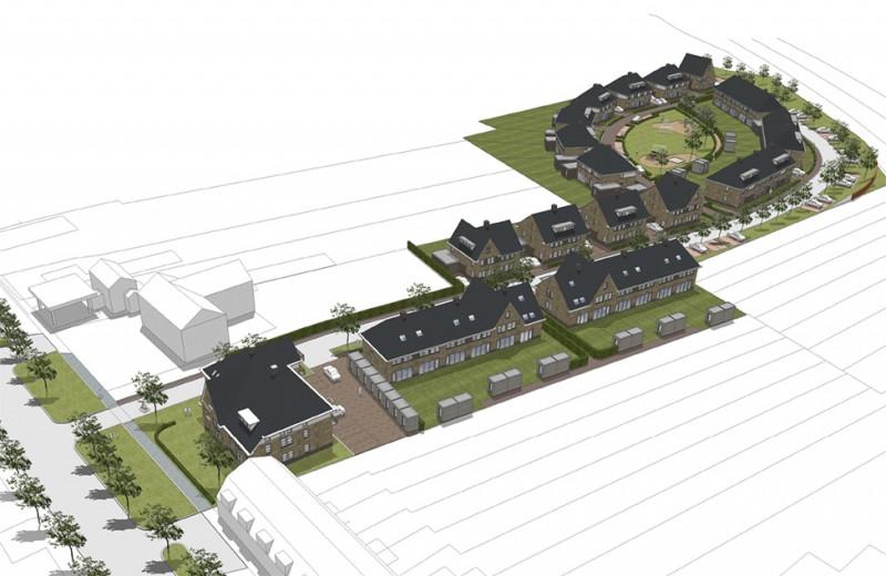 Photo of Nieuwe wijk langs spoorbaan Nieuw Ittersum Zwolle