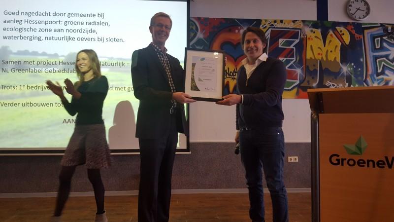 Photo of NL Greenlabel Gebiedslabel voor Hessenpoort