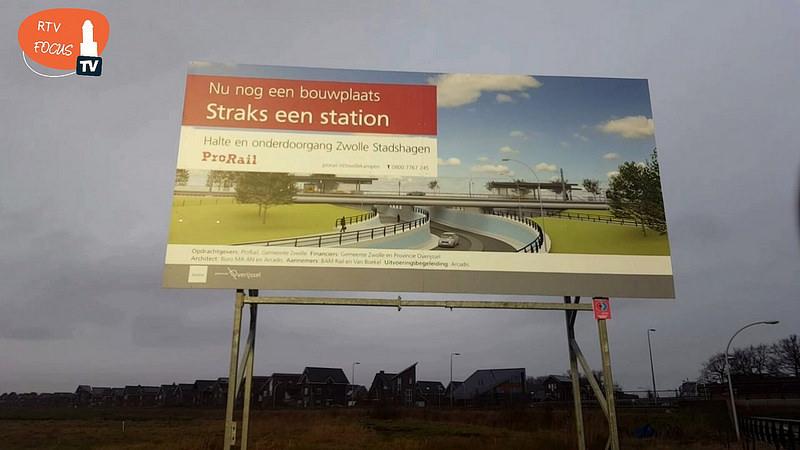 Photo of Bouw Station Stadshagen en elekrificatie Kamperlijntje officieel gestart