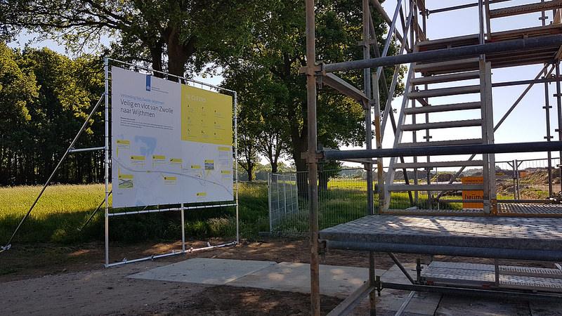 Photo of Uitkijktoren geeft zicht op oude en nieuwe weg langs Wythmen