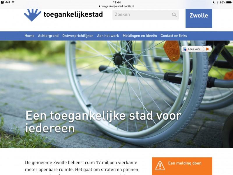 Photo of Zwolle lanceert website met richtlijnen voor toegankelijke openbare ruimte