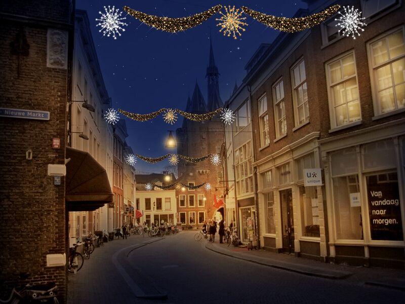 Photo of Lichtroute en opvallende nieuwe sfeerlampjes verlichten de binnenstad deze winter