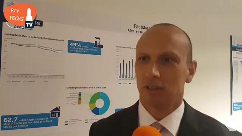 Directeur-generaal Tjark Tjin-A- Tsoi van het CBS opent het Urban Data Center in Zwolle