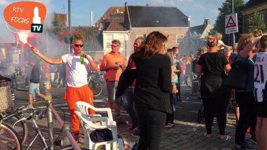 Photo of Oranje vrouwen Europees Kampioen ; Rodetorenplein Zwolle helemaal los