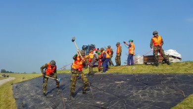 Photo of Leger en Waterschap leggen 'dijkpleister' aan bij Vreugderijkerwaard Zwolle