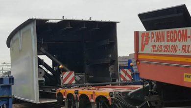 Photo of VIDEO – Eerste stalen brugdeel met Convoi Exceptionnel naar Zwolle vervoerd