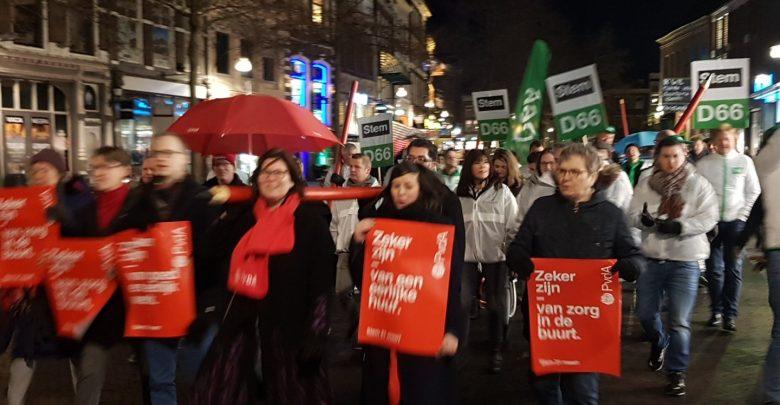Photo of Video: Zwolse verkiezingscampagne start met kleurrijke stoet door binnenstad