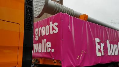 Photo of 15 meter lange spijker kondigt opening Hornbach Zwolle aan