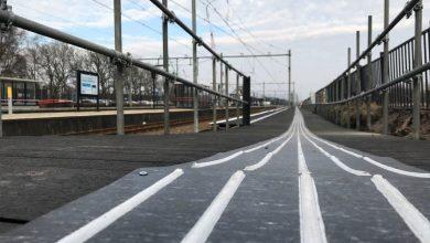 Photo of Extra perron in 't Harde om passagiers Zwolle op te vangen tijdens voorjaarsvakantie