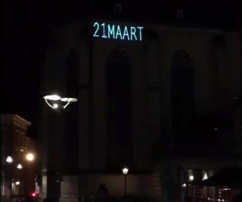 Photo of Lichtprojectie op de Grote Kerk van start