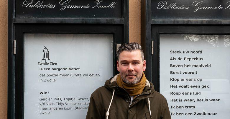 Photo of Zwolle staat stil bij coronaslachtoffers met gedicht stadsdichter Jeroen Kraakman