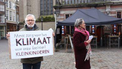 Photo of 'Grootouders voor het Klimaat' demonstreren op Grote Markt