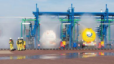 Photo of Waterballet bij olieopslag Katwolderdijk