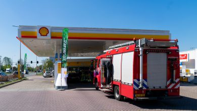Photo of Auto lekt fors diesel in tankstation Blaloweg