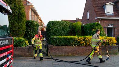 Photo of Brandende heg achter woning in Pierik snel geblust