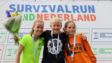 Photo of Gwen Kelderman Nederlands kampioen Survivalrun