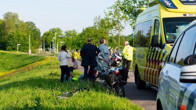 Photo of Hardloper aangereden door taco-bezorger op scooter bij Voorsterbrug
