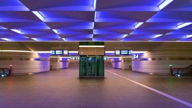 Photo of Stationstunnel Zwolle licht blauw op voor ziekte ME