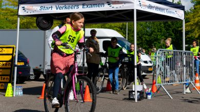 Photo of Scholieren doen verkeersexamen Aa-landen