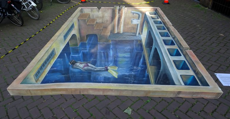 Photo of Vanaf volgende maand weer 3D street art in binnenstad